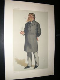 Vanity Fair Print 1880 James Rusell Lowell, American Literary